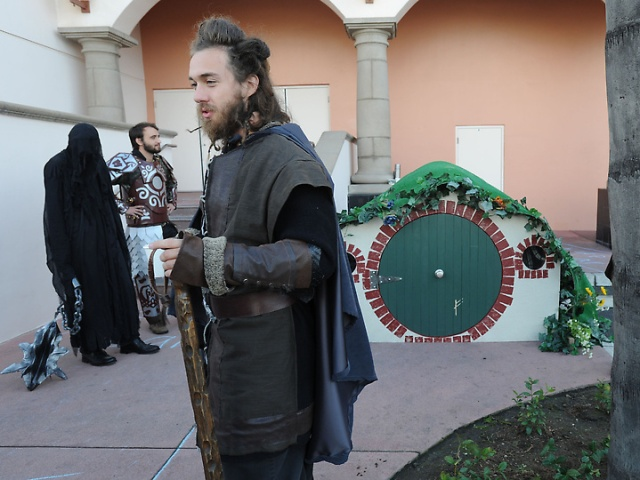 Photo Courtesy of Redlands Daily Facts: Chris in front of Bag End